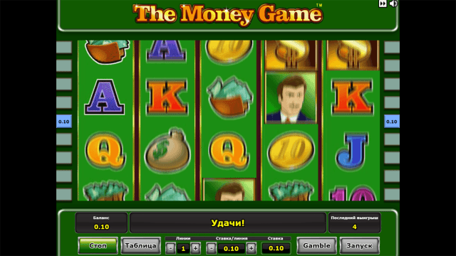 Характеристики слота The Money Game 10