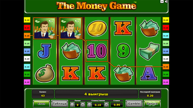 Характеристики слота The Money Game 7