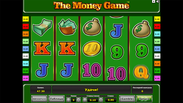 Характеристики слота The Money Game 6